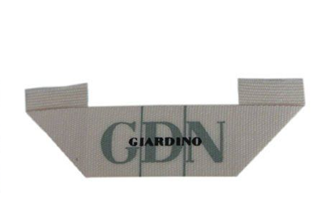 Center / Mitre Fold Taffeta Woven Labels , Elegant Embroidered Sewing Labels