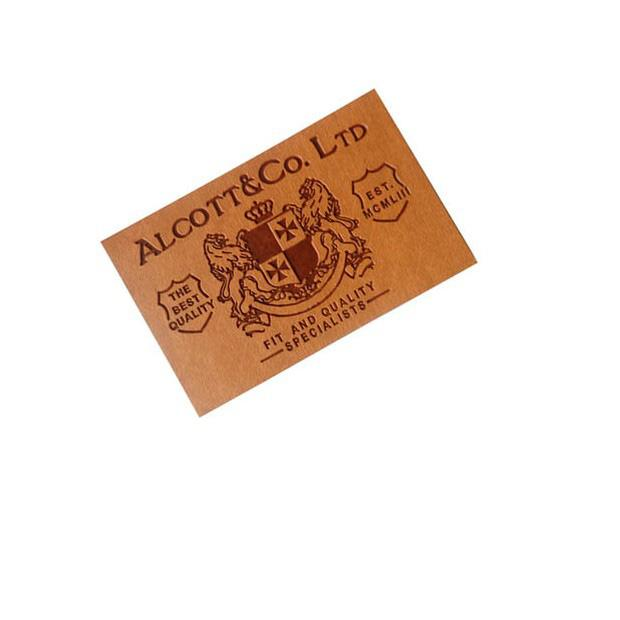 apparel iron on embroidery logo leather patches