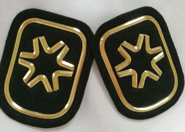 Trung Quốc Black And Gold Embossed 3D Rubber Patches Custom  Badges For Soprtswear nhà cung cấp