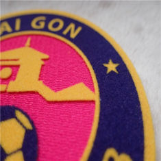 Football Club Custom Clothing Patches Heat Transfer Tatami Flocking Smooth Garment Labels